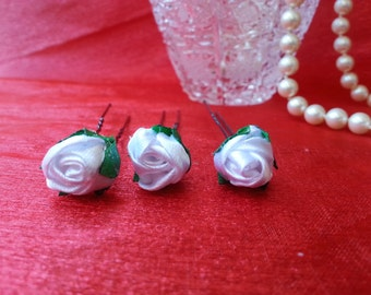 White Rose Hairpin