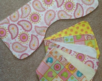 Soft reversible perfect fit burp cloth