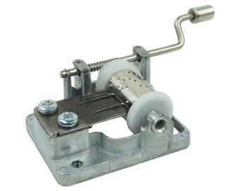 Hand Crank Musical Movements Parts DIY Customize Music Box