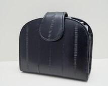 "Leather Ladies wallet, womens wallet ""June"" in black, genuine leather, wallet, purse, portemonnaie, handmade, leather, Taschenkinder"