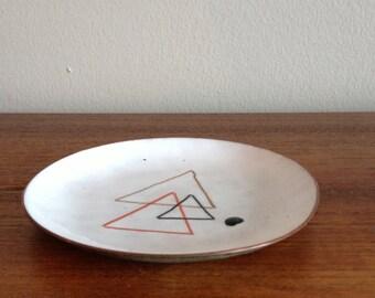 Mid Century Modern Enamel Trinket Dish