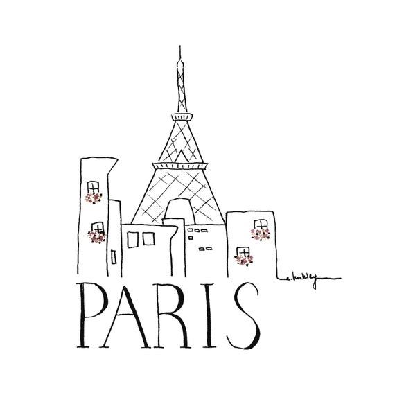 Items Similar To City Sketch Paris Black And White