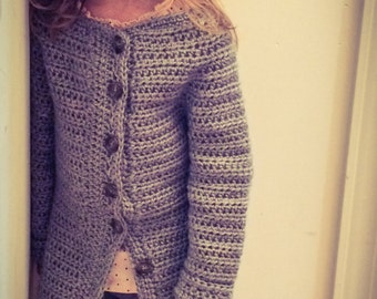 Hand Crochet Cardigan, Sweater, Kids, Girls Cardigan, MADE TO ORDER