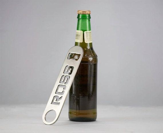Custom Stainless Steel Bottle Opener- Hand finished