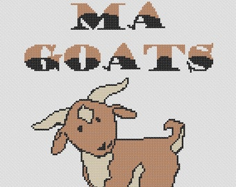 Totes Ma Goats Funny cross stitch pattern Totes Magotes