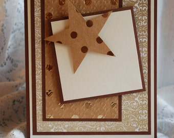 Any Occasion Masculine Handmade Paper Layering 3D Greeting Card