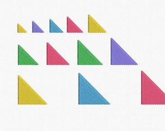 Mini Triangles Machine Embroidery Design - 12 Sizes