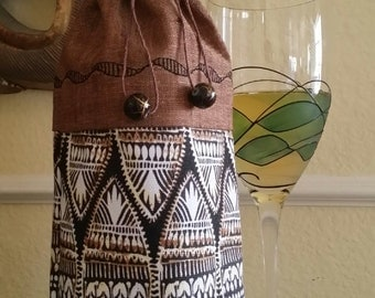 Deluxe Wine Bag-Artsy Collection (African Art)