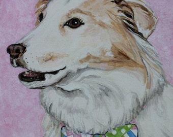 CustomFun Dog Portrait in Acrylics on Canvas