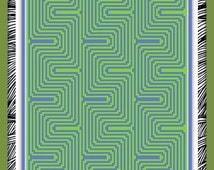 Crochet Chart - DIGITAL DOWNLOAD - Optical Illusion Pattern (Techno) - Great for c2c and sc, Cross stitch, Beadwork & Knitting