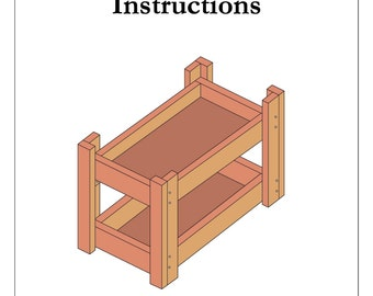 "Instructions to Build 18"" Doll Bunk-Bed"