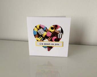 Handmade I'm Sweet On You Card - Anniversary or Valentines