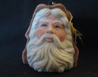 Vintage SANTA Head Ornament - - -