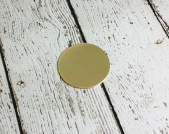 1-1/4 inch Round Disc - 16 Gauge Nu Gold Blank - Round Stamping Blank - Nu Gold Circle Blank