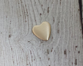 20 Gauge Nu Gold Heart Stamping Blank - 10mm Heart Stamping Blank