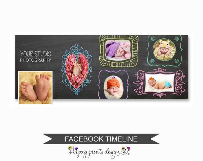 Facebook Timeline Cover Photoshop Template - FBT03