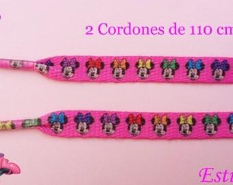 2 Minnie shoe laces