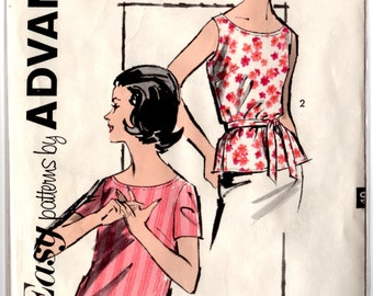 2809 Advance Blouse Pattern 1960's Complete