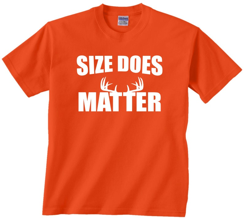 Size Does Matter Funny Hunting T Shirt Gift Comedy Tshirt