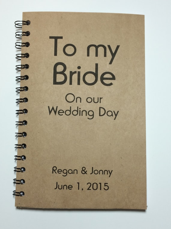 Wedding Day Gift To Groom From Bride : Wedding Day, Journal, Notebook, Personalized, Wedding Day Gift, Gift ...