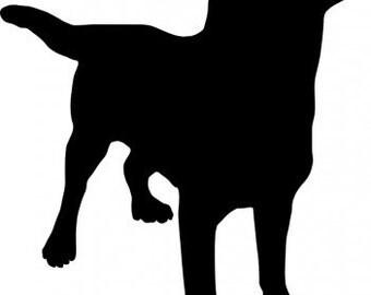 Canine Labrador Retriever Dog Silhouette Vinyl Decal Sticker