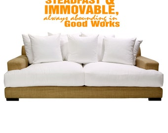 Good Work Religious Quote Wall Art Sticker Decal nm067