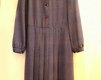 Vintage 70s tailored dress 1970s