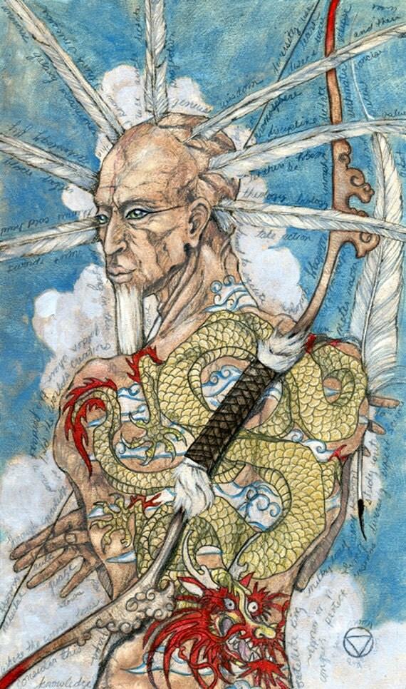 King Of Swords Mary-el Tarot Original Painting Tarot