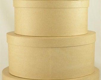5pcs Large Paper Mache Nested Box Set/5, 8, 9,10,12,14 ...