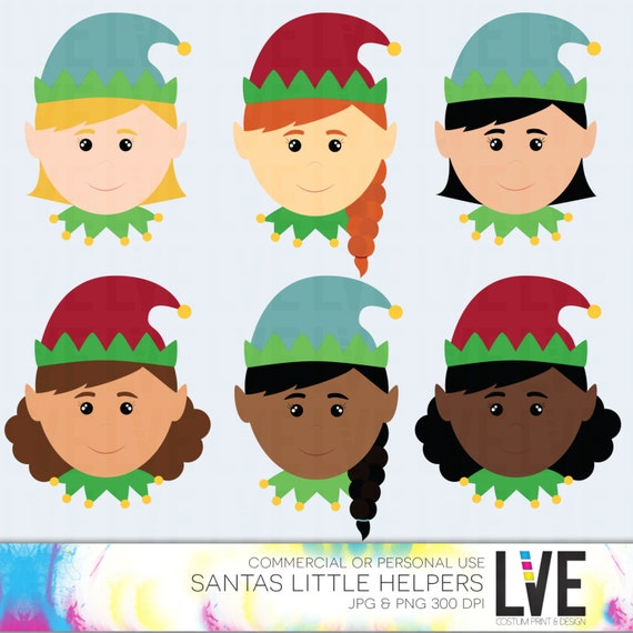Girl Elf Faces Clip Art Images Christmas Elves Elf Faces Holiday