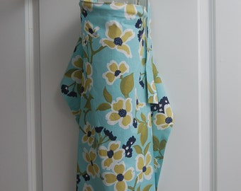 Blue Nursing Cover with Flowers