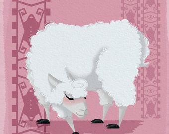 Pink Llama Print