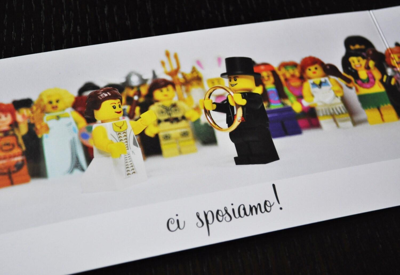 Matrimonio Tema Lego : Lego wedding invitation by priscadesign on etsy