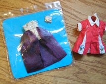 Vintage Handmade Doll clothes, Shirt and a Formal Shorts/Drape with Purse, Skipper Size Clothes
