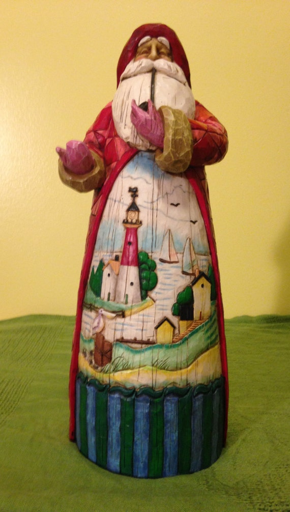 Jim shore retired santa tall figurine a ship sails in