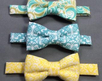 Paisley bow tie. Pastel colors Bow tie for baby boys/ toddler/ youth