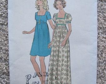 Vintage 1960's UNCUT Butterick Sewing Pattern 6629 Size 12 Misses Dress