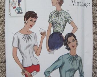 UNCUT Misses Blouses - Size 14 to 22 - Simplicity Pattern S0645