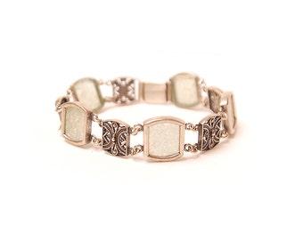 50% SALE Vintage bracelet with blue rhinestones