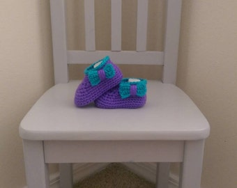 Crochet Baby Moccasins Crocheted Baby Shoes Booties With Bows Little Girls Footwear Crib Shoes Infant Slippers Size 3 6 9 Months