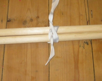 25mm x 55cm, giant wooden knitting needles. Handmade.  For big knitting.