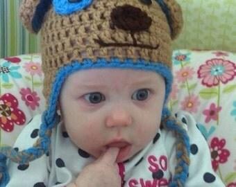 Crochet Puppy Dog Hat/ all sizes