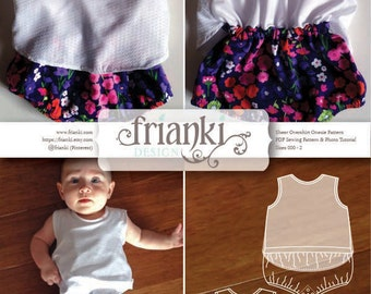Baby Reversible Romper PDF Sewing Pattern and Photo Tutorial