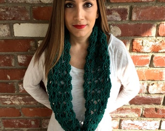 Long Chain-Lace Cowl