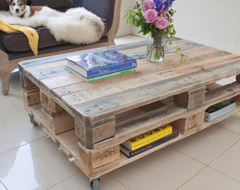 Pallet Coffee Table   Industrial Style   Upcycled Reclaimed Wood Part 78