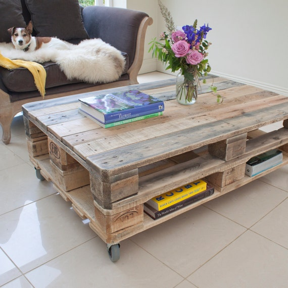 Bois De Récupération De Palette Table Basse Style Industriel