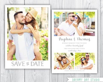 save the date template / printable save the date / simple save the date / save the date photoshop template / photo save the date template