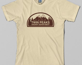 Twin Peaks Sheriff Department T Shirt  - david lynch, tv, police, fire walk with me, Graphic Tee, All Sizes & Colors