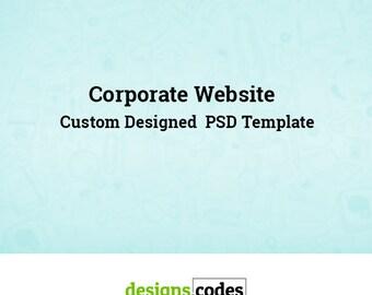 Web Template, Business Website Template, Corporate Website Template, PSD Template, Custom Website Design, Website Templates,  Web PSD Layout