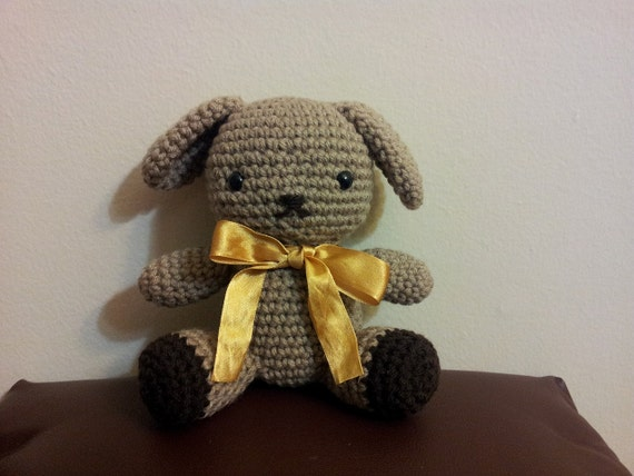 Amigurumi Floppy Ear Bunny : Amigurumi crochet floppy ear bunny by TreeTownBear on Etsy